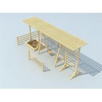 China High Quality Outdoor Wooden Children Swing Sets with Sand Pit Kids Swing Sets on sale