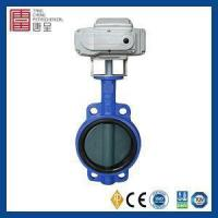 Buy cheap JIS Standard High Performance Low Pressure Lug Cast Steel Center Line Type Butterfly Valve with Elec from Wholesalers