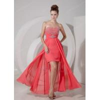 Buy cheap Discount High-low Watermelon Prom Dress With Beading from Wholesalers