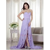 Buy cheap Designer Lavender Prom Dress With Detachable High Low Skirt from Wholesalers