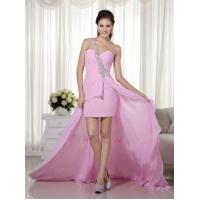 Buy cheap High-low Unique Design One Shoulder Pink Prom Dress from Wholesalers