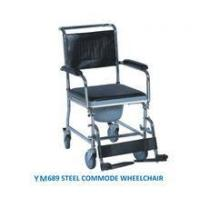 Medical commode wheelchair for hospital YM689 flip-down armrest commode wheelchair