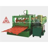 Buy cheap Red / Blue Glazed Tile Roof Panel Roll Forming Machine with Hydraulic Shear from wholesalers