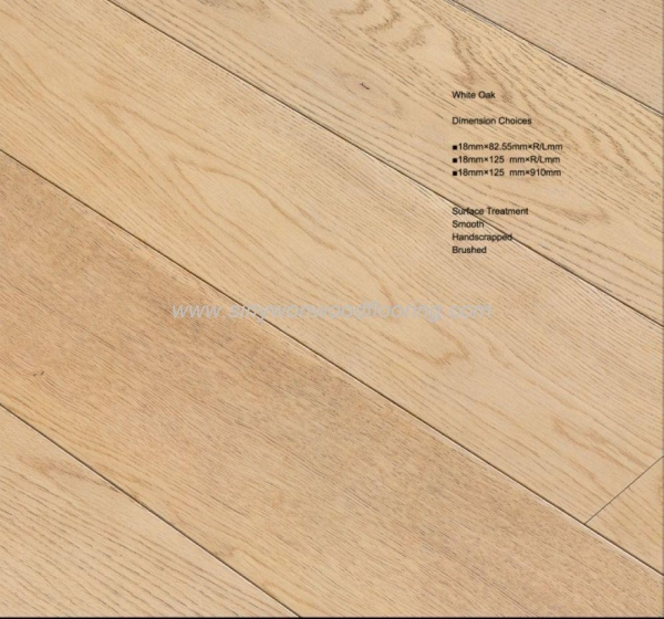 China White Oak Solid White Oak Wood Flooring