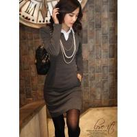 Buy cheap New Design Fashion OL Style Slim Knit Mid-Rise T-Shirt Dress from wholesalers