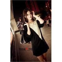Buy cheap Hot Sale Lady Style Round-Neck Patch Color Mid-Rise Korean Slim T-Shirt Dress from wholesalers