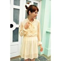 Buy cheap New Fashion Korean Style Long Sleeve Round-Neck Slim T-Shirt Dress from wholesalers