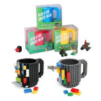 Buy cheap DIY Block Puzzle Mug for kids Christmas Gift/Build-On Brick Mug Type Building Blocks Coffee Cup from wholesalers