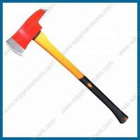 Buy cheap 3.5LB firefighter axe with fiberglass handle, firemen's axe, forcible entry tools, fire rescue tools from wholesalers