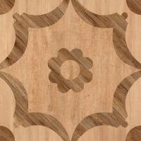 China Matte Finish  600*600 Rustic Wood Look Ceramic Tile  Flower Design In Bathroom Floor on sale