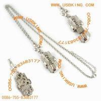 female usb memory stick,  lover usb flash drive,  necklace usb key China,  1GB usb pendrive,  jewelry usb disk China,  usb memory manufacture