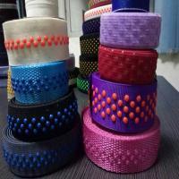 China Custom 3 wave lines non slip custom elastic waistband non slip elastic silicone webbing on sale