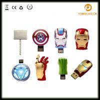 Buy cheap Avengers USB Flash Drive 4G Iron Man 8G Pen Drive 16G Captain America 32G USB Stick Hulk Thor PenDrive U Disk USB Drive from Wholesalers