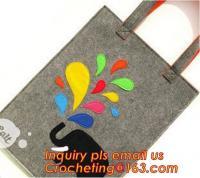 Buy cheap Cute fashion designer felt tote bag, reusable felt leisure handbags fashionable, felt clutch bag promotional convenient from Wholesalers