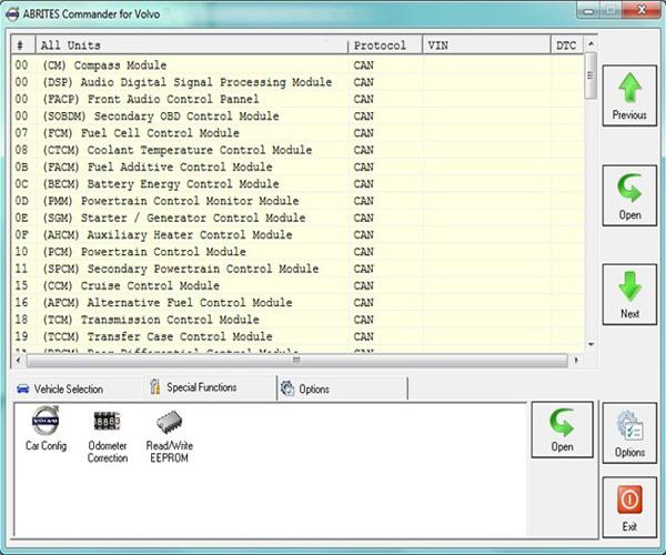 Volvo FVDI software display 1