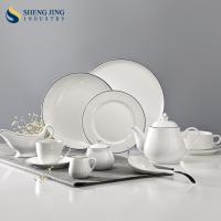 China Chaozhou Ceramic Factory Elegance Fine Porcelain Black Rim Dinner Set on sale