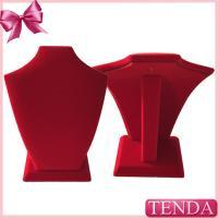 China Small Medium Sized Red Long Flocking Velvet Jewellery Jewelry Displays on sale