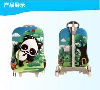 China Animal Print Kids Hard Case Luggage / Suitcases For Kids Cartoon Panda Pattern on sale