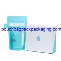 200 ml breast milk storage pouch bag supplier, waterproof double zipper on zipper