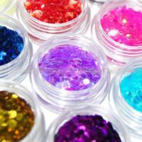 China Painting Decoration Hexagon Glitter Powder With Epoxy Coated on sale
