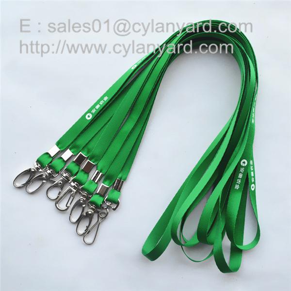 polyester neck strap lanyard with metal sheet crimp