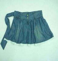 China Women's Ruffle Denim Skirt on sale