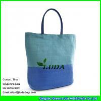 LUDA 2015 new product straw mat nice look fabric straw handbag