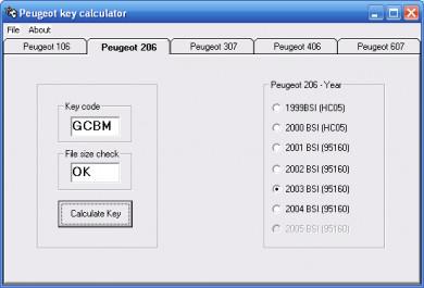 Buy wl programmer Peugeot Key Calculator program + Keygen