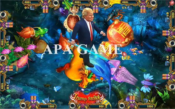 Metal Cabinet Fish Table Game Trump Fish Hunter Machine 12