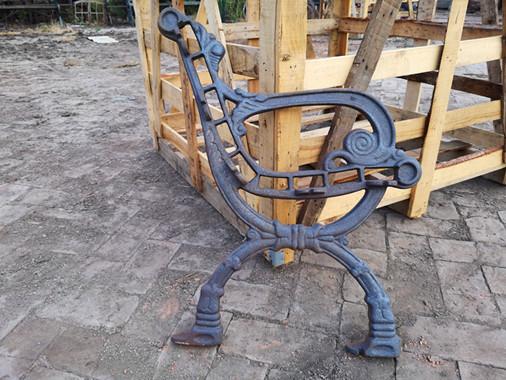 Antique Outdoorcast Iron Bench Ends For Garden Chair Iron Park