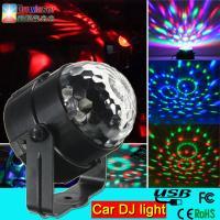 China 5v 1A 3w car dj light mini rgb led disco dj flash light for the car led magic ball light on sale