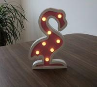 China Table desk art gifts wooden led flamingo shaped night light on sale