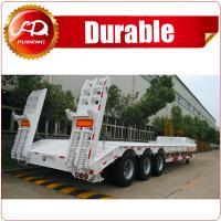 3-axle Heavy duty Machinery Transport Low Bed Semi Trailer(Axle&Size Optional)/semi trailer/Flatbed semi trailer