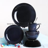 China 5pcs creative reactive glaze porcelain dinner set on sale