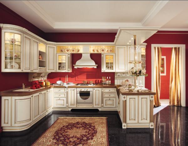 China White Golden kitchen door panel,Raised kitchen ...