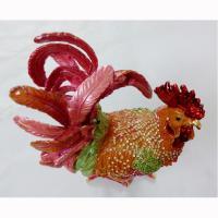 China Cock metal jewelry box Trinket Box on sale