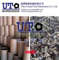Buy cheap hot sale Double shaft paper shredder crusher - paper package tube, cardboard barrel recycling shredder  paper crusher from Wholesalers