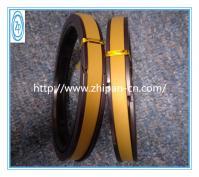 Yellow PTFE Hydraulic Piston Seals 60% Bronze High Temperature Resistance