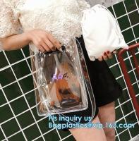 China Crystal PVC Transparent Women Fashion Handbag, PVC Women Bags Tote Beach Handbags, China alibaba PVC handbag manufacture on sale