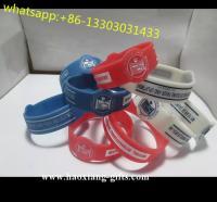 cheap promotional uv sensitive sport silicone bracelet with custom logos