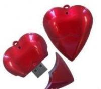 China 4GB/8GB Delicate Heart Shape USB Flash Drive on sale