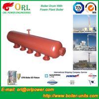 Hot Water Boiler Drum For Power Station , Dryer Drum High Heating Efficiency