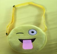 Lovely Custom Velvet Emoji Kids School Backpack Bag