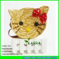 Buy cheap LUDA 2016 fashion cute girls wheat straw hello kitty beach handbag from Wholesalers