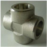 China Cross Tee Forged Steel Fittings, ASTM B564 Nickel Alloy flangeolet , weldolet , reduce tee , elbow , cap , tee on sale