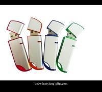 China Hot Selling Bulk Cheap Promotional Branded Custom Logo plastic 4gb USB Flash Drive on sale