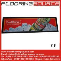 China Nitrile Rubber Backing Bar Mat for Beer and Drink Promotion Logo Custom Rubber Bar Mat, custom pvc bar mat,beer mat on sale