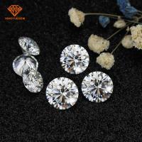 China 6.5mm d color diamond moissanite,1 carat round white moissanite, vvs loose diamonds on sale