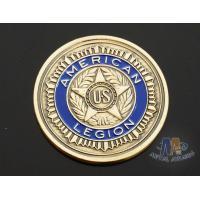Custom Logo Soft Enamelled US 3D effect Challenge Coins Antique gold