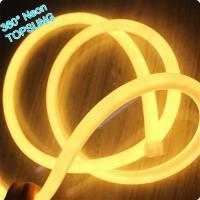 Buy cheap 360 degree round mini led neon flex strip for xmas decoration 220v warm white mini 16mm from Wholesalers